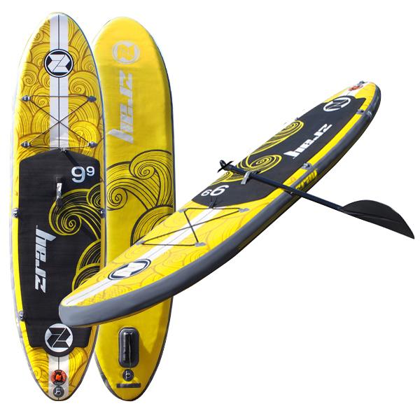 SUP スタンドアップパドルボード インフレータブル ボート エアポンプ付 マリンスポーツ サーフィン ボディボード 送料無料 ###パドルボート37331###
