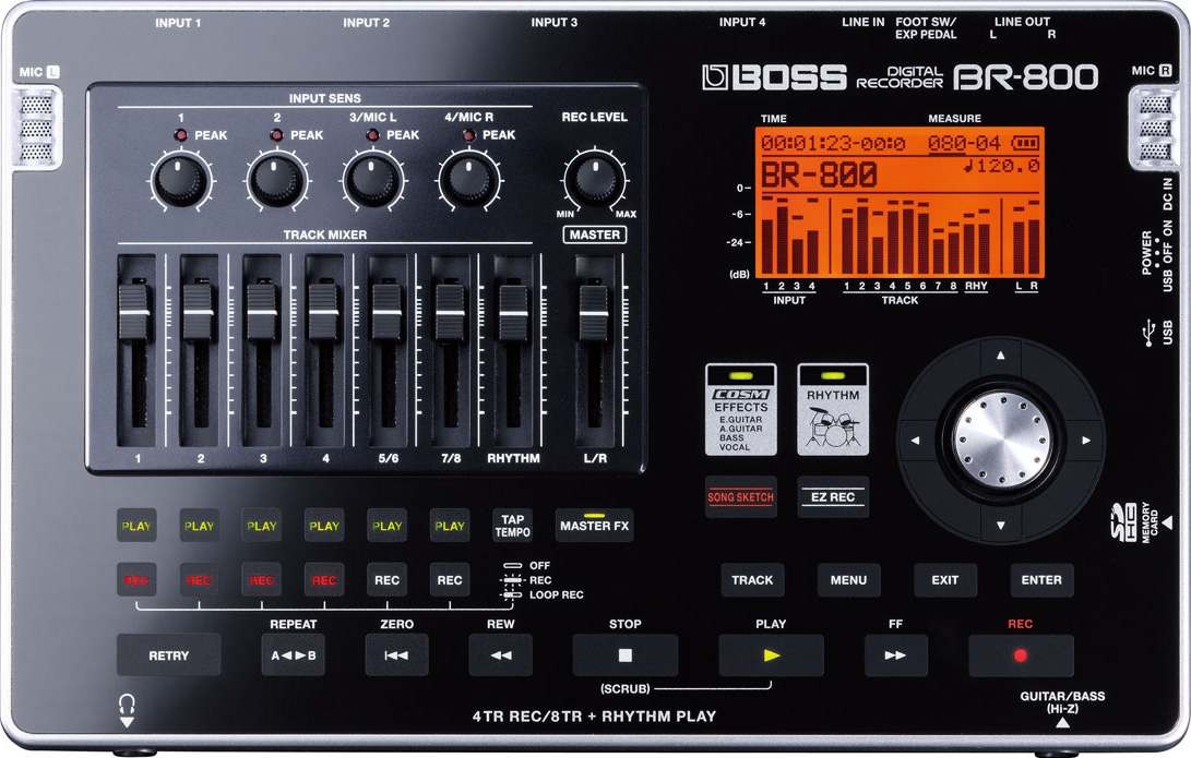 BOSS ボス マルチトラックレコーダー BR-800【送料無料】【smtb-ms】【zn】