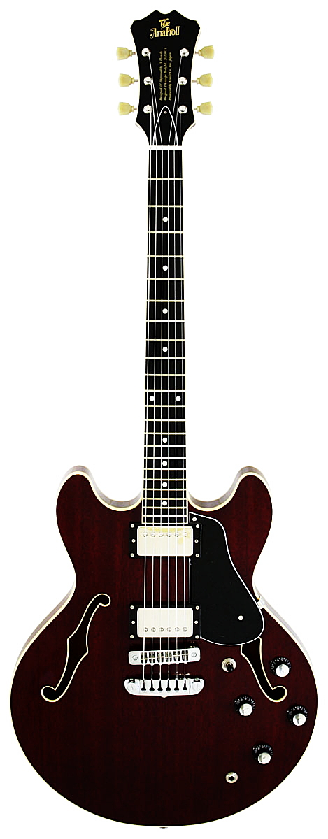 ARIA アリア TA-DOMINO セミアコースティック・エレキギター 【送料無料】【smtb-ms】【zn】