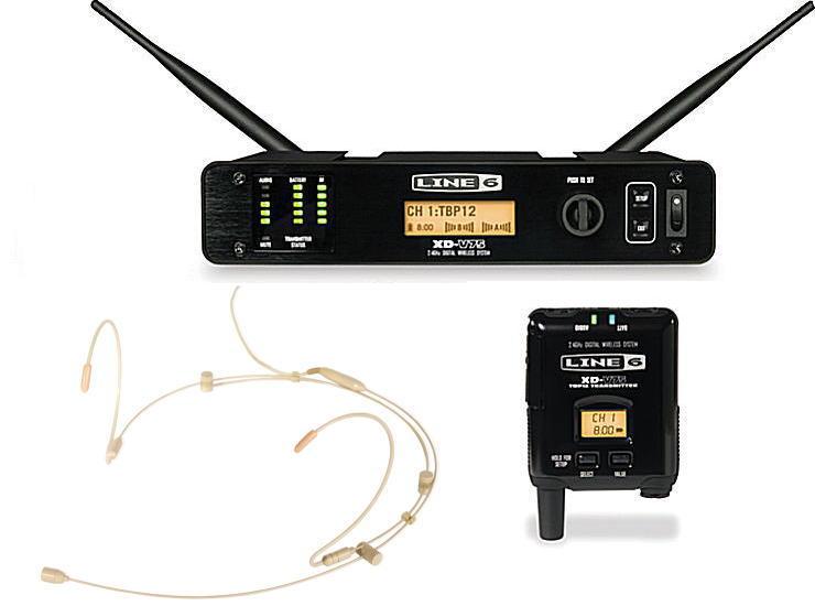 LINE6 XD-V75HS TAN ライン6 デジタル ヘッドセット ワイヤレ スシステム【送料無料】【smtb-ms】【zn】