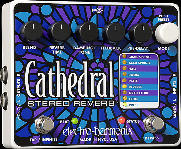 electro-harmonix Cathedral スプリング・リバーブ【smtb-ms】【zn】