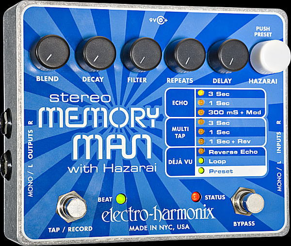electro-harmonix Stereo Memory Man with Hazarai デジタル・ディレイ/ルーパー【smtb-ms】【zn】