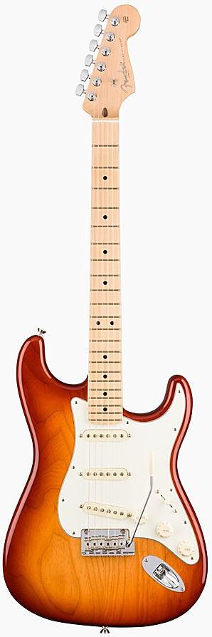 FENDER エレキギター AMERICAN PROFESSIONAL STRATOCASTER Maple Fingerboard, Sienna Sunburst【smtb-ms】【zn】