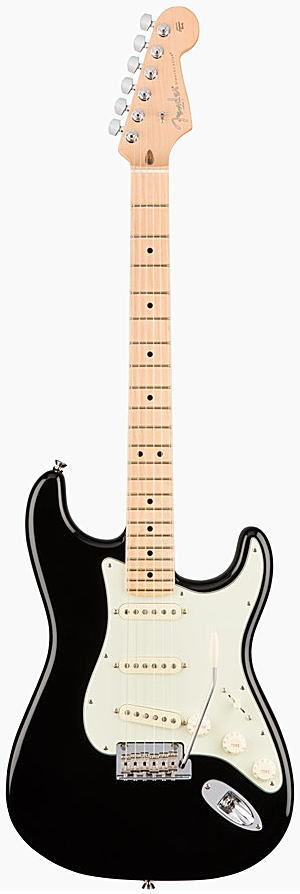 FENDER エレキギター AMERICAN PROFESSIONAL STRATOCASTER Maple Fingerboard, Black【smtb-ms】【zn】