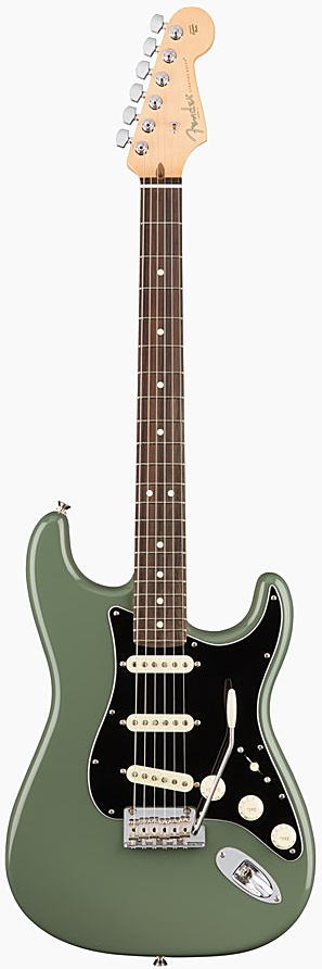 FENDER エレキギター AMERICAN PROFESSIONAL STRATOCASTER Rosewood Fingerboard, Antique Olive【smtb-ms】【zn】