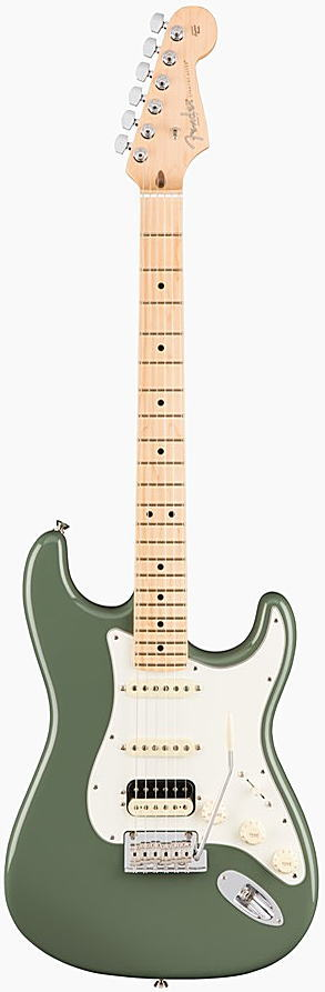 FENDER エレキギター AMERICAN PROFESSIONAL STRATOCASTER HSS SHAWBUCKER Maple Fingerboard, Antique Olive【smtb-ms】【zn】