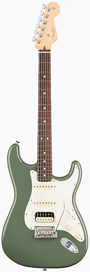 FENDER エレキギター AMERICAN PROFESSIONAL STRATOCASTER HSS SHAWBUCKER Rosewood Fingerboard, Antique Olive【smtb-ms】【zn】