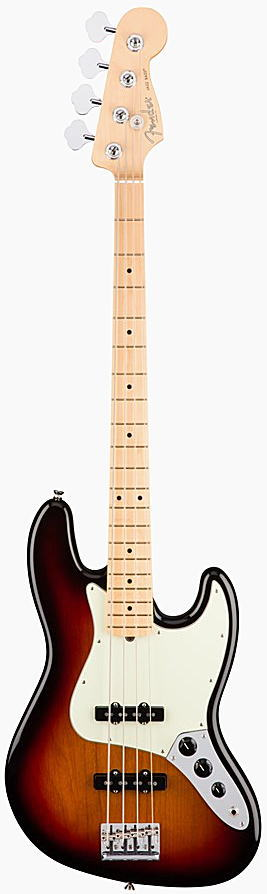 FENDER エレキベース AMERICAN PROFESSIONAL JAZZ BASS Maple Fingerboard, 3-Color Sunburst【smtb-ms】【zn】