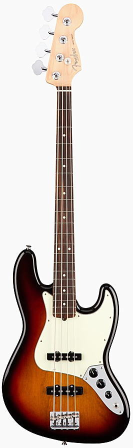 FENDER エレキベース AMERICAN PROFESSIONAL JAZZ BASS Rosewood Fingerboard, 3-Color Sunburst【smtb-ms】【zn】
