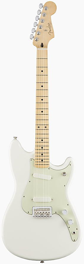 FENDER エレキギター DUO-SONIC Maple Fingerboard, Arctic White【smtb-ms】【zn】