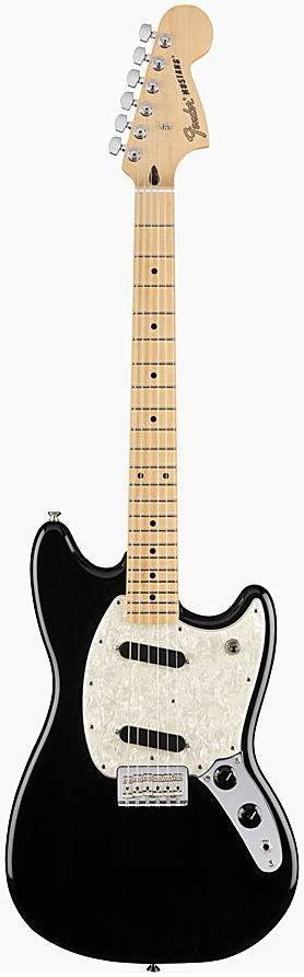 FENDER エレキギター MUSTANG Maple Fingerboard, Black【smtb-ms】【zn】