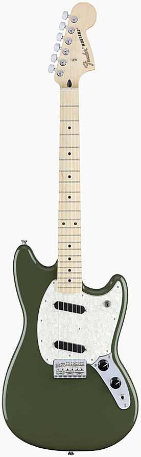 FENDER エレキギター MUSTANG Maple Fingerboard, Olive【smtb-ms】【zn】
