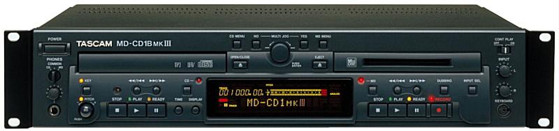 TASCAM タスカム MD-CD1BMKIII CDプレーヤー/MDレコーダー【smtb-ms】【zn】