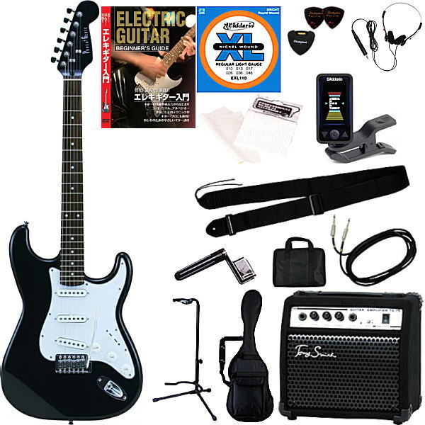 【エレキギター入門15点セット】フォトジェニック ST-180 HBK 【メーカー直送】【smtb-ms】【zn】