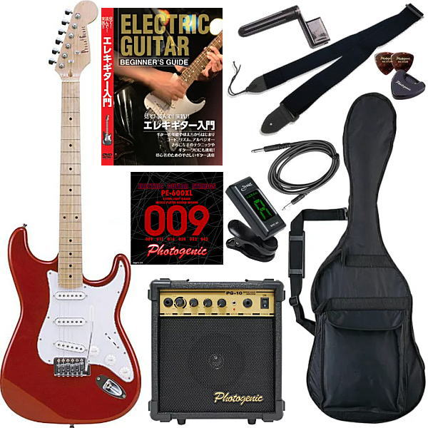 【エレキギター初心者11点セット】 フォトジェニック ST180 M/MRD 【教則DVD付エントリーセット】【メーカー直送】【smtb-ms】【zn】