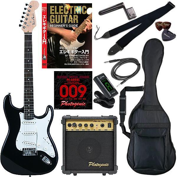 【エレキギター初心者11点セット】 フォトジェニック ST180 BK 【教則DVD付エントリーセット】【メーカー直送】【smtb-ms】【zn】