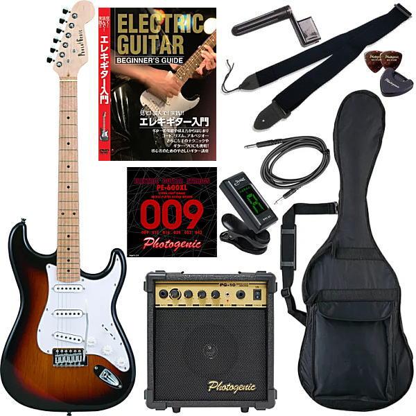 【エレキギター初心者11点セット】 フォトジェニック ST180 M/SB 【教則DVD付エントリーセット】【メーカー直送】【smtb-ms】【zn】