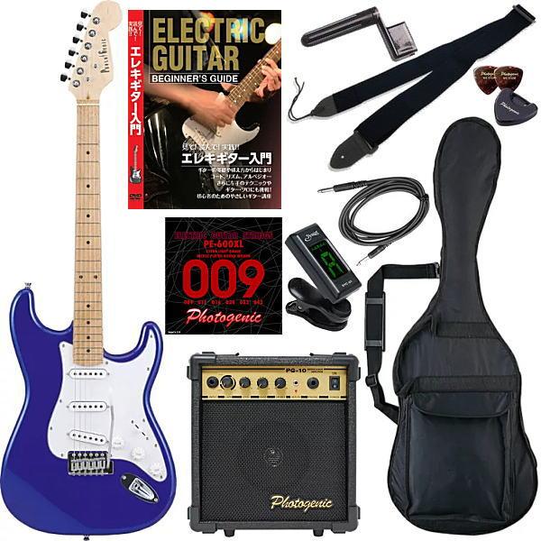 【エレキギター初心者11点セット】 フォトジェニック ST180 M/MBL 【教則DVD付エントリーセット】【メーカー直送】【smtb-ms】【zn】