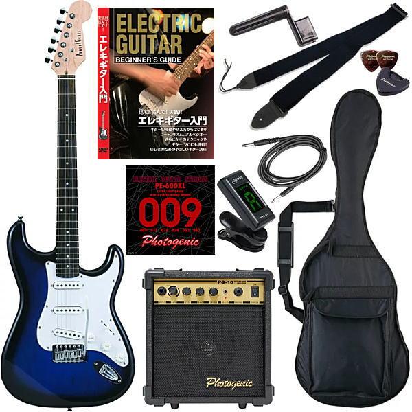 【エレキギター初心者11点セット】 フォトジェニック ST180 BLS 【教則DVD付エントリーセット】【メーカー直送】【smtb-ms】【zn】