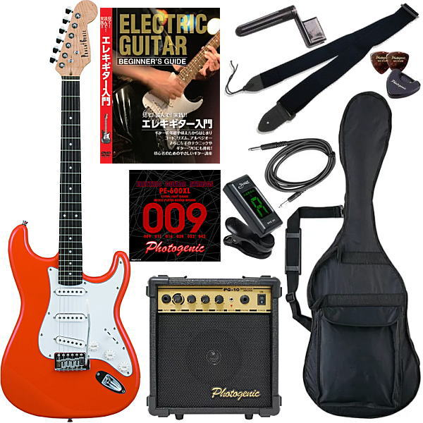 【エレキギター初心者11点セット】 フォトジェニック ST180 OR 【教則DVD付エントリーセット】【メーカー直送】【smtb-ms】【zn】