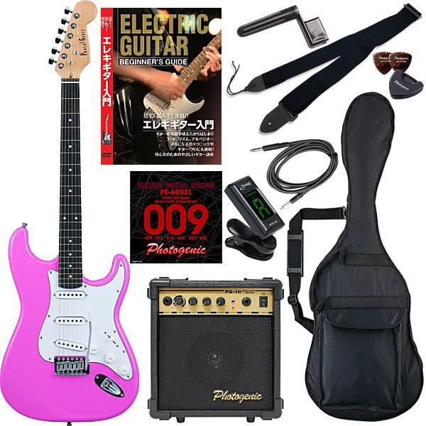 【エレキギター初心者11点セット】 フォトジェニック ST180 PK 【教則DVD付エントリーセット】【メーカー直送】【smtb-ms】【zn】