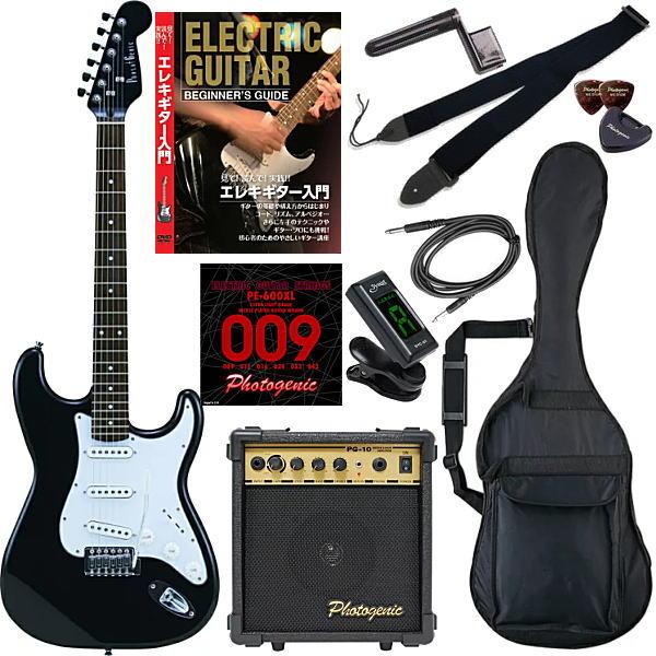 【エレキギター初心者11点セット】 フォトジェニック ST180 HBK 【教則DVD付エントリーセット】【メーカー直送】【smtb-ms】【zn】