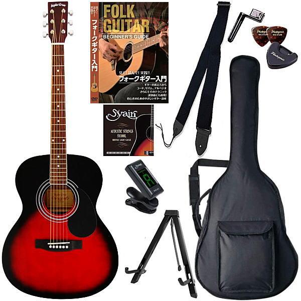 【アコースティックギター初心者10点セット】セピアクルー Sepia Crue FG-10 RDS【教則DVD付エントリーセット】【メーカー直送】【smtb-ms】【zn】