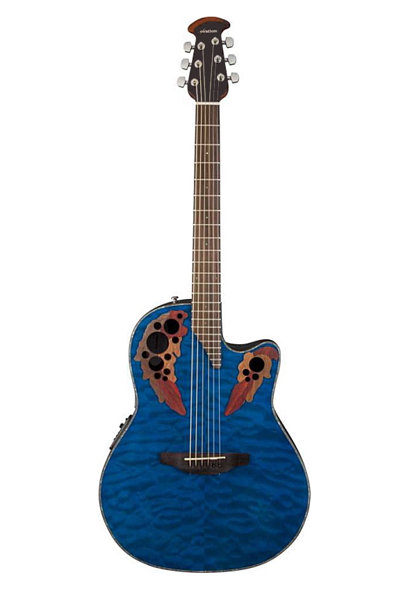 Ovation Celebrity Elite Plus CE44P-8TQ Blue Transparent Quilt オベーション セレブリティー エレクトリック アコースティックギター エレアコ【smtb-ms】【zn】