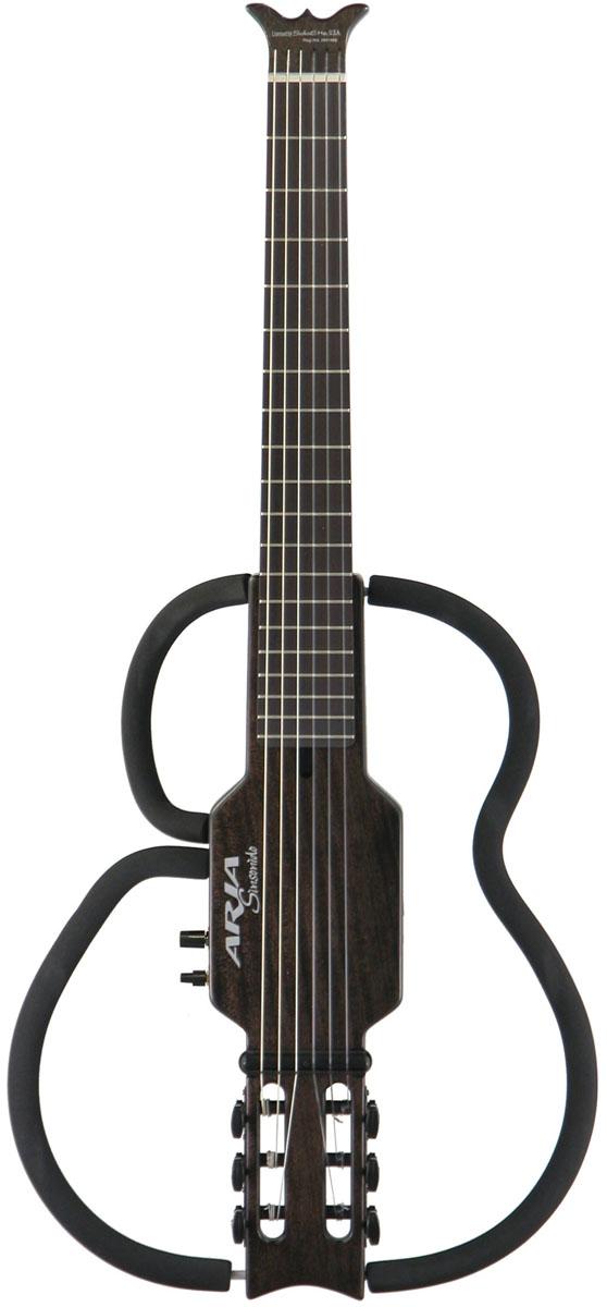 ARIA Sinsonido サイレントギター AS-101C Nylon Strings SBK【送料無料】【smtb-ms】【zn】