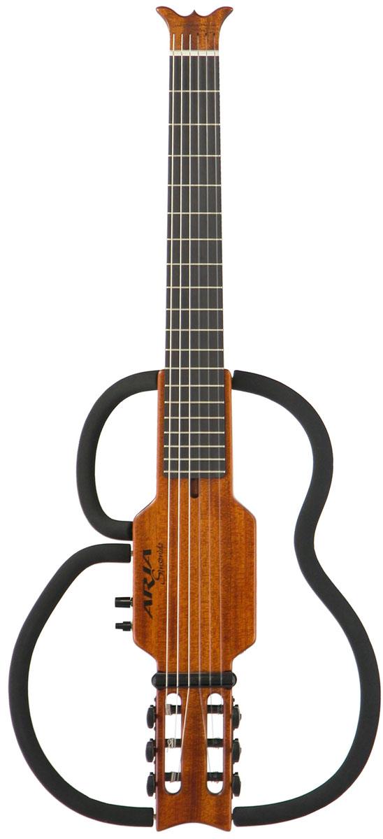 ARIA Sinsonido サイレントギター AS-101C Nylon Strings MH【送料無料】【smtb-ms】【zn】