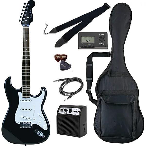 【エレキギター初心者8点セット】フォトジェニック ST-180 HBK 【メーカー直送】【smtb-ms】【zn】