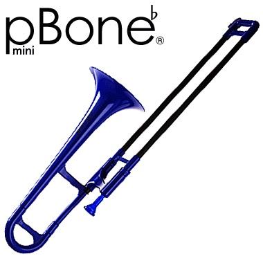 【ご予約受付中】pBONE mini E♭ Trombone BLUE【送料無料】【smtb-ms】【zn】