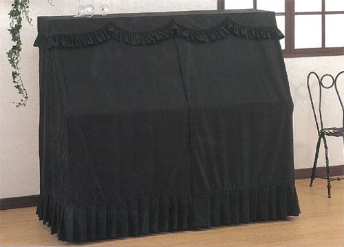 甲南 アップライトピアノカバー オールカバーセリーヌ ブラック【サンプルお届け】【返品不可】【同梱不可】【zn】