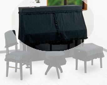 甲南 アップライトピアノカバー ハーフカバー セリーヌ ブラック【サンプルお届け】【送料無料】【smtb-ms】【zn】