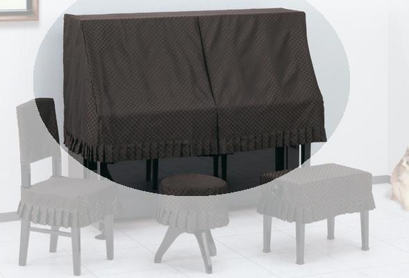 甲南 アップライトピアノハーフカバー チェス【サンプルお届け】【返品不可】【同梱不可】【zn】