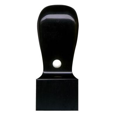 角印【黒水牛】21mm角