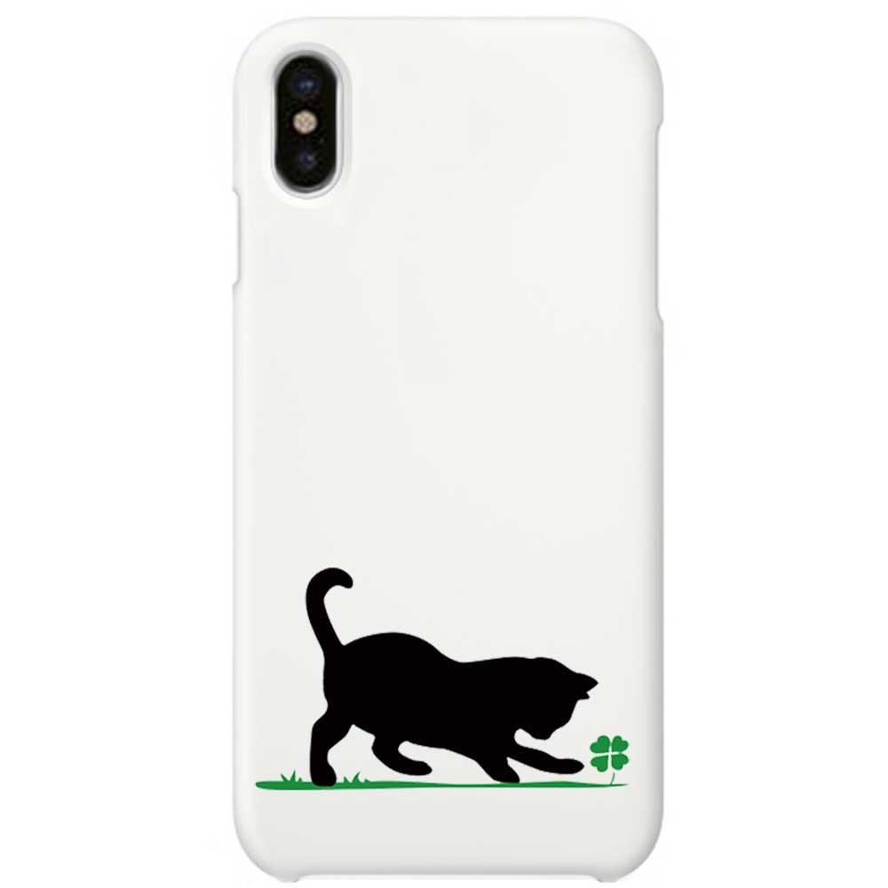 送料無料 iPhoneSE 第2世代 iphoneケース iPhoneカバー ホワイト iphonexケース iphonexカバー かわいい 雑貨 xケース アイフォーン アイフォーンx iPhoneケース iPhone 至高 11 XR Pro ねこ x iPhoneXS ipho ドッグ 猫 ネコ iPhone11 ホワイトケース 子猫と四葉のクローバー カバー 爆買い送料無料 白 Max