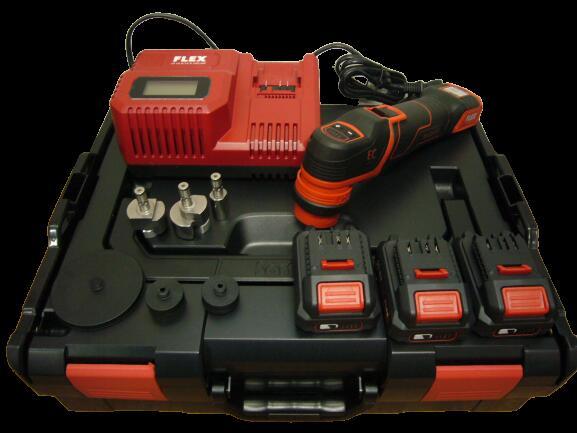 テクノトゥールズ FLEX プロトン コードレス スマート フレックス ポリッシャー バッテリー 3個付き カーディテーリングススツール付き