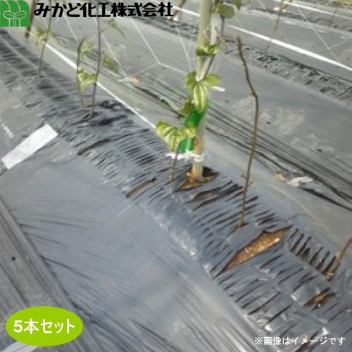 みかど化工 メデルシート M945B 黒 幅95cm×長さ100m メデル幅45cm 5本セット 好評 営業 条播 シードテープ 点播 トンネル内マルチに最適 散播 黒マルチ