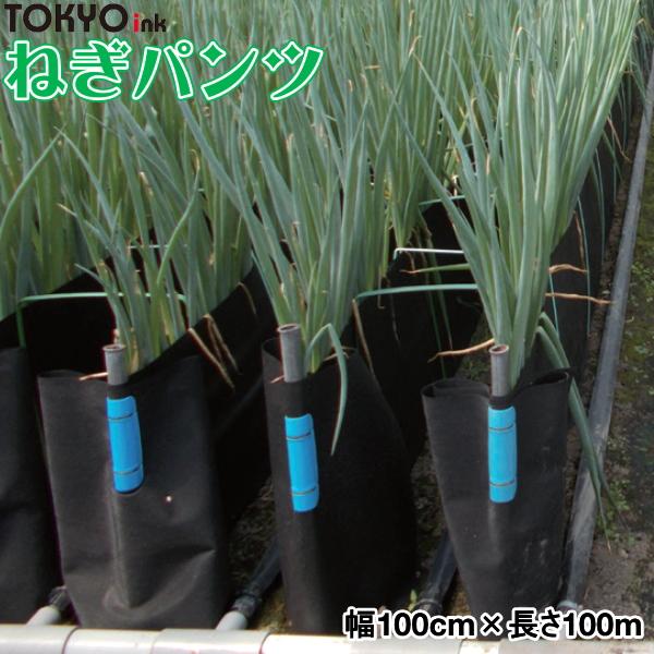 軟白ねぎ栽培用遮光シート ねぎパンツ 幅100cm×長さ100m