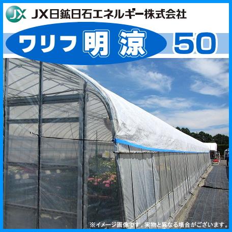 高温対策シート ワリフ明涼50 幅210cm×長さ100m 遮光率50% (ハウスの外掛け・内張り、トンネル)