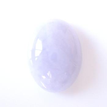 【魅力の淡い京紫】ラベンダーヒスイオーバルカボション 約6.48cts