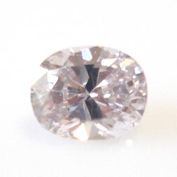 【ナチュラル&中央宝石研究所ソーティングカード付】ピンクダイヤモンドオーバルシェイプ 約0.255cts
