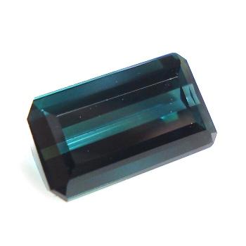 【バイカラーの輝き】ブルーグリーントルマリンオクタゴン 約2.01cts