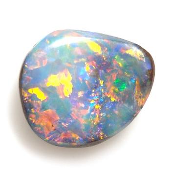 【3色の斑が煌きあう】天然ボルダーオパール約2.21cts