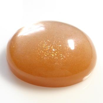 【オレンジ色に輝く】サンストーンオーバルカボション 約42.15cts