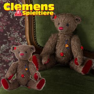 テディベア Teddy Roseheart, mohair クレメンス社 ビンテージ くまのローズハート 大人気 プレゼント ギフト お子さん 誕生日
