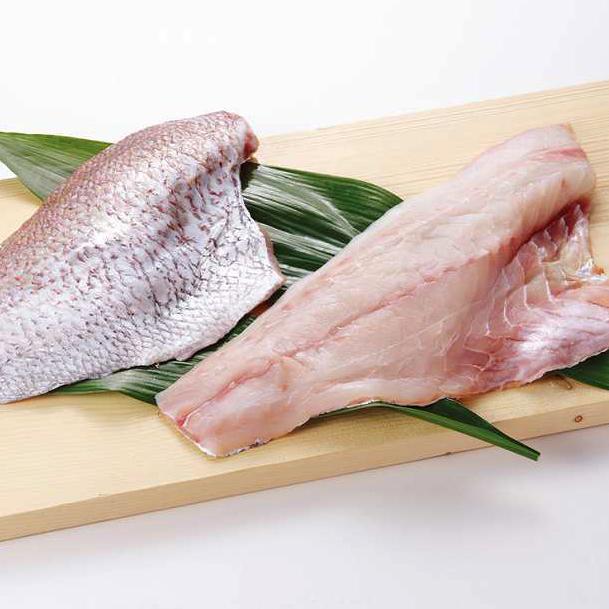天然真鯛 フィレー 300-400g 長崎県産(冷凍)【9Kg箱入り業務用】