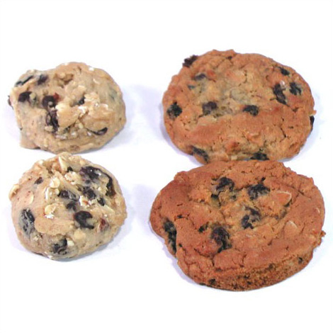 冷凍クッキー生地 「レーズンオートミール」 アメリカンクッキー 業務用 箱入り(8シート) 合計224ケ入り