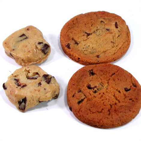 冷凍クッキー生地 「ダークチョコチャンク」 アメリカンクッキー 業務用 箱入り(8シート) 合計224ケ入り